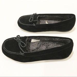 Vionic Shoes - EUC Vionic Ida Black Suede Slippers sz 8